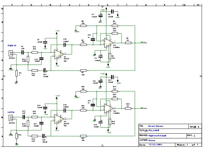 Усилитель на микросхеме LM3886T/TF по схеме Mauro.
